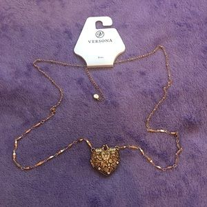 Heart long necklace NWT